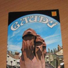 Postales: LIBRITO EDITADO EN EL AÑO 1980 CON LA ARQUITECTURA DE GAUDI VERSION EN ESPAÑOL. Lote 25098355