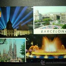 Postales: 6413 ESPAÑA SPAIN CATALUÑA BARCELONA PLAZA DE CATALUÑA POSTCARD AÑOS 60 ESCRITA - TENGO MAS POSTALES. Lote 22669049
