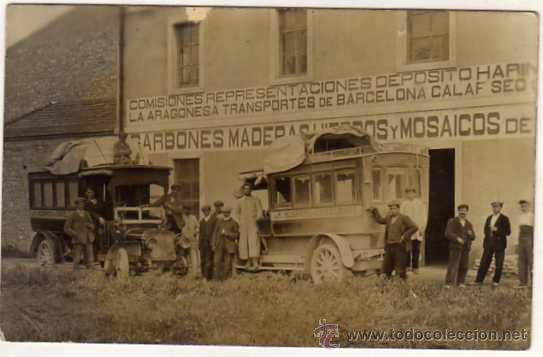 LERIDA. SEO DE URGEL. POSTAL FOTOGRÁFICA. LA HISPANO URGELENSE. COCHE DE LINEA. AUTOBUS SIN CIRCULAR (Postales - España - Cataluña Antigua (hasta 1939))