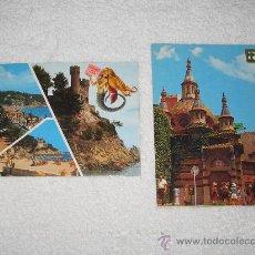Postales: LOTE DE 2 POSTALES DE LLORET DE MAR AÑOS 60/70. Lote 22718667