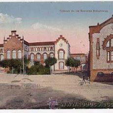 Postales: BARCELONA. TARRASA. TALLERES DE LAS ESCUELAS INDUSTRIALES. ED. ANGEL TOLDRA VIAZO. CIRCULADA. Lote 22728484