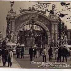 Postales: BARCELONA. ACABADO FOTOGRÁFICO. FIESTAS DE BARCELONA 1910. ARCO. PLAZA DE CATALUÑA. MAGDA.. Lote 22792676