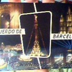 Postales: ARCO DEL TRIUNFO.LA CATEDRAL.MONUMENTO A CRISTÓBAL COLÓN.PLAZA DE CATALUÑA(BARCELONA).SOBERANAS.1962. Lote 22867361