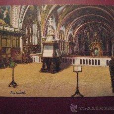 Postales: MONSERRAT,CORO DE LA BASILICA.CIRCULADA EN 1924.VER FOTO ADICIONAL.. Lote 23250651