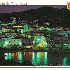 Postales: CALELLA DE PALAFRUGELL (COSTA BRAVA) - VISTA NOCTURNA. Lote 23277306