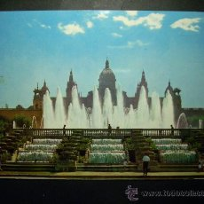 Postales: 7647 ESPAÑA CATALUÑA BARCELONA PALACIO Y FUENTE DE MONTJUICH AÑOS 60 ESCRITA - TENGO MAS POSTALES. Lote 23410799
