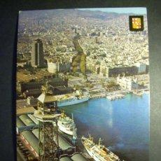 Postales: 7698 ESPAÑA SPAIN CATALUÑA BARCELONA PUERTO VISTA AEREA POSTCARD AÑOS 60/70 - TENGO MAS POSTALES. Lote 23427576
