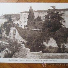 Postales: CALDAS DE MONTBUY. BALNEARIO RIUS. FACHADA DEL CAMPO. L.ROISIN. . Lote 27022483