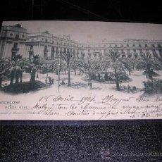 Postales: BARCELONA PLAZA REAL 637 HAUSER Y MENET-MADRID,CIRCULADA 1904-14X9 CM.. Lote 23553788