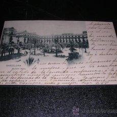 Postales: BARCELONA PLAZA REAL 637 HAUSER Y MENET -MADRID CIRCULADA 1901-14X9 CM.. Lote 23554734