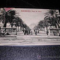 Postales: BARCELONA PASEO COLON,-K.H.B. 1015 CIRCULADA 1909- 14X9 CM.. Lote 23566550