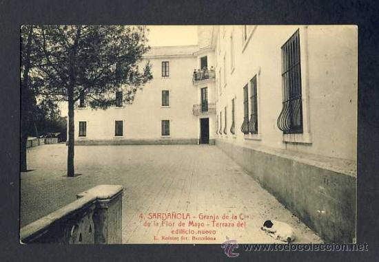 POSTAL DE CERDANYOLA (BARCELONA): GRANJA FLOR DE MAIG: TERRASSA DEL NOU EDIFICI (ROISIN NUM.4) (Postales - España - Cataluña Antigua (hasta 1939))
