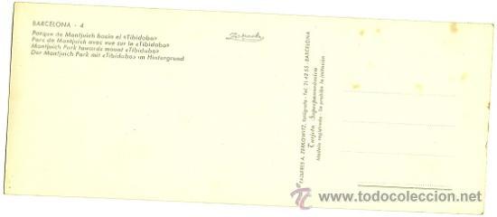 Postales: 6290B - MONTJUICH (BARCELONA) TARJETA SUPERPANORÁMICA - TALLERES ZERKOWITZ - Foto 2 - 27246042