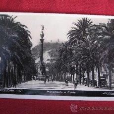 Postales: BARCELONA - MONUMENTO A COLON. Lote 24472393