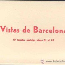 Postales: ÁLBUM DE 10 POSTALES DE VISTAS DE BARCELONA.- EN ACORDEÓN. Lote 24150180