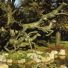 Postales: BARCELONA Nº 21 PARQUE DE LA CIUDADELA-ZOO-MONUMENTO A WALT DISNEY ED. FISA NUEVA. Lote 24361746
