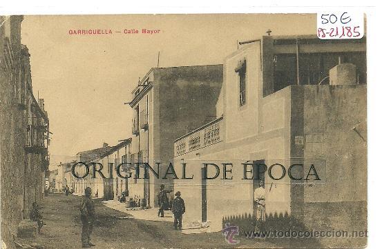 (PS-21185)POSTAL DE GARRIGUELLA(GIRONA)-CALLE MAYOR (Postales - España - Cataluña Antigua (hasta 1939))