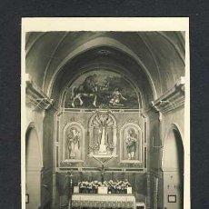 Postales: POSTAL DE GRANERA (BARCELONA): ALTAR MAJOR (ED.FOTO VERGÉS NUM.5). Lote 24620884