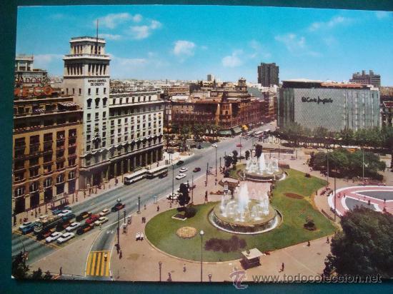 Postal de barcelona catalu a a o 1974 plaza vendido - El corte ingles plaza cataluna barcelona ...