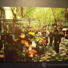 Postales: 8906 ESPAÑA SPAIN CATALUÑA BARCELONA RAMBLA DE LAS FLORES AÑOS 60 ESCRITA - TENGO MAS POSTALES. Lote 24764336