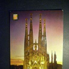 Postales: 8929 ESPAÑA CATALUÑA BARCELONA TEMPLO DE LA SAGRADA FAMILIA GAUDI AÑOS 60 ESCRITA TENGO MAS POSTALES. Lote 24769006
