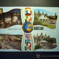 Postales: 8933 ESPAÑA SPAIN CATALUÑA BARCELONA DIVERSOS ASPECTOS AÑOS 60/70 ESCRITA - TENGO MAS POSTALES. Lote 24769170