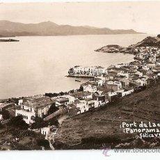 Postales: PORT DE LA SELVA - FOTOGRAFICA. V. FARGNOLI - PANORAMA Nº 1 - ESCRITA. CON CENSURA .VELL I BELL.. Lote 26760142