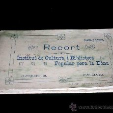 Postales: CONJUNTO 12 POSTALES INSTITUT DE CULTURA I BIBLIOTECA POPULAR PER LA DÒNA. .. Lote 25004783
