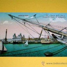 Postales: POSTAL BARCELONA, PUERTO DE LA PAZ Y TINGLADOS DESDE EL ANTEPUERTO. SIN CIRCULAR.. Lote 25005132