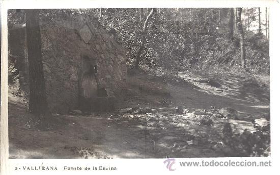 Usado, PS2716 VALLIRANA 'FUENTE DE LA ENCINA'. POSTAL FOTOGRÁFICA. SIN CIRCULAR segunda mano
