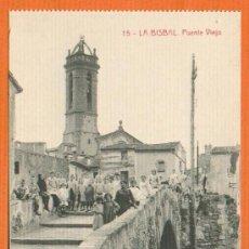 Postales: LA BISBAL D'EMPORDÀ PONT VELL PUENTE VIEJO Nº 15 SIN CIRCULAR REVERSO DIVIDIDO. Lote 26468274