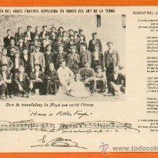 Postales: MOYÁ MOIÀ FESTA DEL ARBRE FRUYTER, CAVALCADA EN HONOR DE L'ART DE LA TERRA EXCELENTE ESTADO MUY RARA. Lote 26468275