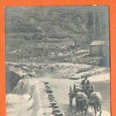 Postales: OLOT ORILLAS DEL FLUVIÀ - CIRCULADA 1914 SELLO DE 10 CTS. A. FABERT. Lote 26468277