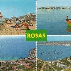 Postales: POSTAL ROSAS-GERONA FOTO J. UBACH PUIG. Lote 25554815