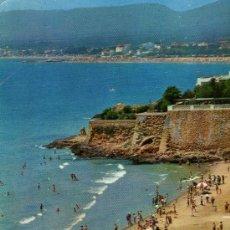 Postales: SALOU PLAYA DE LAZARETO ESCRITA CIRCULADA CON SELLO AÑO 1964. Lote 25575795