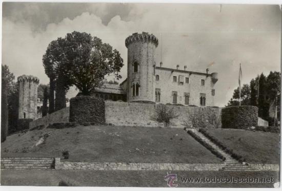 SANT HILARI SACALM. GIRONA. CASTILLO DE MONTSOLÍS. AÑOS 1950. (Postales - España - Cataluña Moderna (desde 1940))
