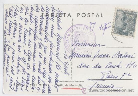 Postales: Sant Hilari Sacalm. Girona. Castillo de Montsolís. Años 1950. - Foto 2 - 25686897