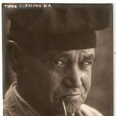 Postales: HOMBRE CON BARRETINA FUMANDO EN PIPA. EDITADA POR J.PONS DE BLANES.GERONA. - VELL I BELL. Lote 25904235