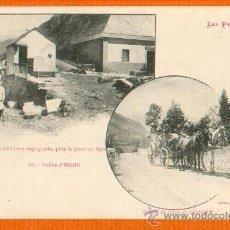 Postales: CARABINEROS ESPAÑOLES - PUENTE DEL REY Y CARRETERA DE LES A BOSOST - Nº 56 ARAN LLEIDA LABOUCHE. Lote 27620841