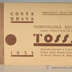 Postales: BLOC DE 12 TARJETAS POSTALES -TOSSA, COSTA BRAVA - (GERONA). Lote 26205474