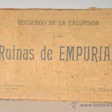 Postales: BLOC DE 18 TARJETAS POSTALES - RUINAS DE EMPURIAS (GERONA). Lote 26205912