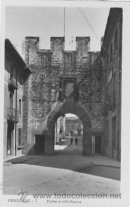 POSTAL CENTELLAS PORTAL Y CALLE NUEVA (Postales - España - Cataluña Moderna (desde 1940))