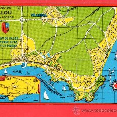 Postales: POSTAL DE SALOU PLANO DE LA VILLA EDICION LA GOLONDRINA SIN CIRCULAR . Lote 26340805