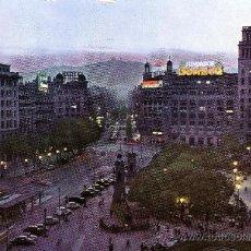Postales: ESPAÑA. T. P. BARCELONA. Nº 5101. AÑO 1959. LA PLAZA DE CATALUÑA DE NOCHE. SIN CIRCULAR.. Lote 26433140