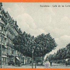 Postales: CALLE DE LAS CORTES CATALANAS - COCHE DE CABALLOS - BARCELONA - SIN CIRCULAR - MUY RARA. Lote 26455003