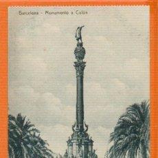 Postales: MONUMENTO A COLON - BARCELONA - SIN CIRCULAR - SIN EDITOR - MUY RARA. Lote 26457424