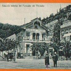 Postales: ESTACION INFERIOR DEL FUNICULAR DEL TIBIDABO - BARCELONA - SIN CIRCULAR - SIN EDITOR. Lote 26458890