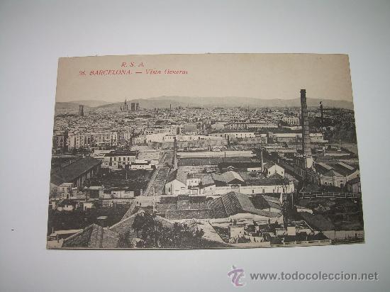 POSTAL.....BARCELONA...VISTA GENERAL. (Postales - España - Cataluña Antigua (hasta 1939))