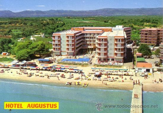 ESPAÑA. T. P. SALOU (TARRAGONA). Nº 178. COSTA DORADA. HOTEL AUGUSTUS. PLAYA. NUEVA. (Postales - España - Cataluña Moderna (desde 1940))