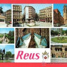 Postales: POSTAL DE REUS VARIAS VISTAS Nº 12 EDICION RAYMOND ESCRITA EL AÑO 1980. Lote 26879398
